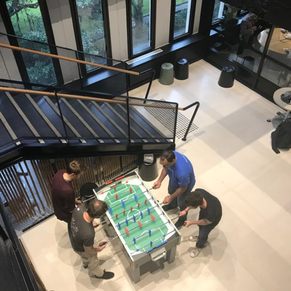 Data Republic team playing fuseball